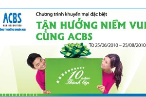ACBS tặng phí giao dịch cho khách hàng