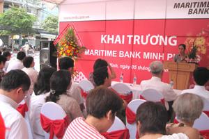 Maritime Bank khai trương phòng giao dịch Minh Phụng
