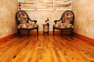 Sàn nhà từ thùng rượu vang