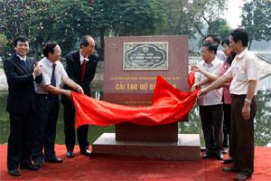 Hà Nội: Hoàn thành dự án cải tạo hồ Bảy mẫu