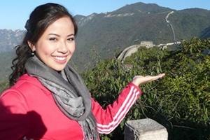 Á hậu Kiều Khanh rạng rỡ tại Trung Quốc
