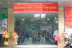 VietinBank Tuyên Quang khai trương phòng giao dịch Tân Quang