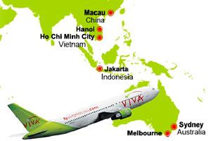 Hãng hàng không Viva Macau tuyên bố phá sản