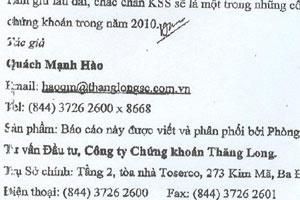 Mạo danh ông Quách Mạnh Hào khuyên mua KSS