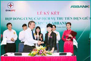 EVN SPC và ABBank ký kết Hợp đồng Thu tiền điện qua mạng bưu chính