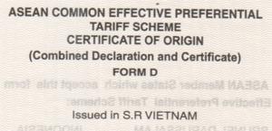 Thay đổi mẫu chứng thư hàng xuất khẩu đi ASEAN