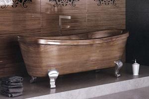 Thiết kế phòng tắm gỗ sang trọng Fusion Style