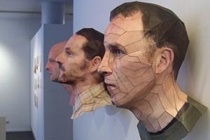 Chân dung người 3D làm bằng giấy
