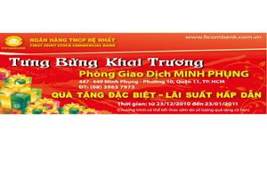 Ngân hàng Đệ Nhất khai trương PGD Minh Phụng