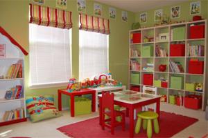 Sắp xếp không gian vui chơi cho trẻ