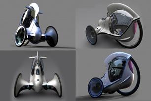 Citroen E-3POD Antistatic Concept: xe ba bánh siêu nhẹ