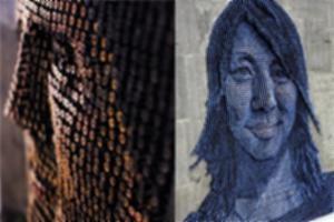 Tranh chân dung 3D từ đinh vít
