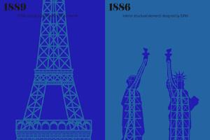 """Nghệ thuật đồ họa """"Sự đối chiếu của hai thành phố"""""""