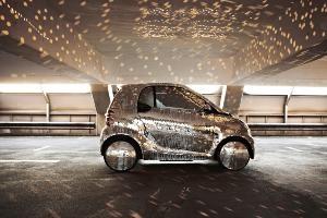Smart Fortwo - Ô tô điện dán gương