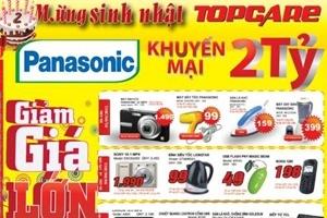 Sinh nhật TopCare: Panasonic khuyến mại 2 tỷ đồng tuần đầu tiên