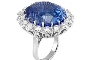 Sang trọng nhẫn sapphire hoàng gia