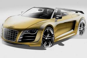 Phác họa Audi R8 GT Spyder