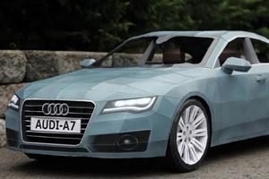Audi A7 làm từ giấy