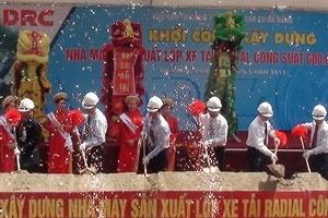 DRC: Xây nhà máy sản xuất lốp ôtô lớn nhất Việt Nam