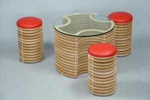 Bộ bàn ghế cà phê theo phong cách 3D
