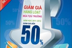 Nhà sách Phương Nam giảm giá đến 50% mùa tựu trường