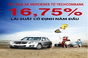 Techcombank cho vay mua xe Mercedes lãi suất ưu đãi 16,75%