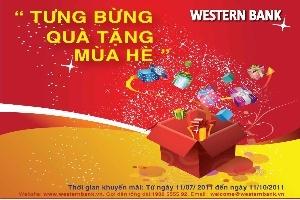 Tưng bừng quà tặng mùa hè với Western Bank