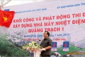 Khởi công Nhà máy Nhiệt điện Quảng Trạch 1