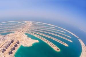 Ảnh vệ tinh quần đảo nhân tạo Palm Jumeirah trong gần một thập kỉ
