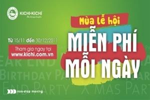 Lẩu băng chuyền Kichi Kichi tặng khách hàng 50 phiếu miễn phí mỗi ngày
