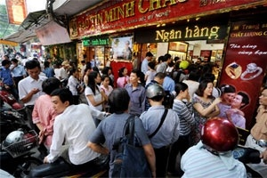 """Vàng Bảo Tín Minh Châu tiếp tục """"hạ giá"""""""