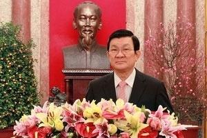 Chủ tịch nước Trương Tấn Sang chúc Tết Nhâm Thìn