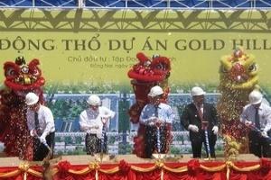 Động thổ xây dự án Gold Hill tổng vốn 350 tỷ đồng