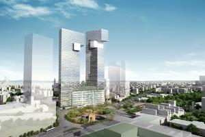 Xây tháp đôi 55 tầng hình rồng trên khu đất vàng TP.HCM