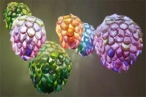Đèn hoa sặc sỡ từ giấy màu Nhật Bản