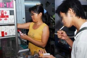 Dưới 18 tuổi không được mua, bán, sử dụng thuốc lá