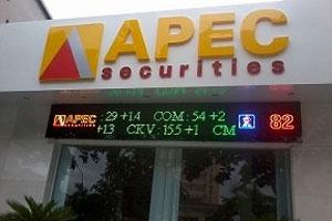 Chứng khoán APEC lãi 11 tỷ, vượt 43% kế hoạch năm