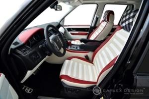 Nội thất Range Rover Sport mang cảm hứng Burberry
