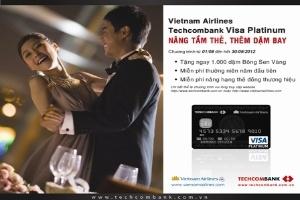 Vietnam Airlines Techcombank Visa Platinum-Nâng tầm thẻ, thêm dặm bay