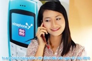 Vinaphone khuyến mãi dịch vụ ví điện tử Momo