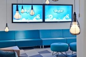 Văn phòng sáng và xanh của Skype