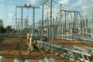 Xây dựng một trạm biến áp phục vụ việc truyển tải điện.