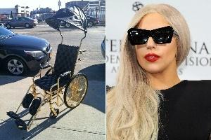 Xe lăn dát vàng của Lady Gaga