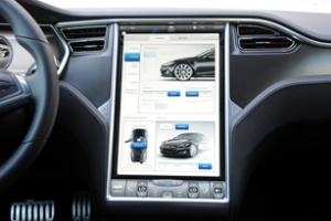 Giao diện điều khiển xe hiện đại của Tesla