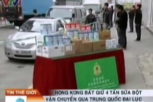 Hong Kong bắt giữ 4 tấn sữa bột lậu