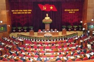 Bế mạc Hội nghị lần thứ 7 Ban Chấp hành Trung ương Đảng
