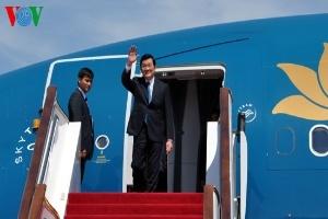 Chủ tịch nước tới thủ đô Bắc Kinh