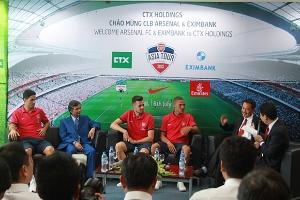 CTX Holdings tổ chức giao lưu với cầu thủ Arsenal