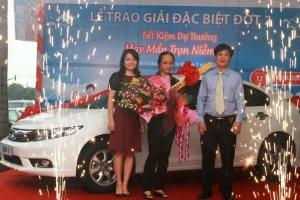 """BIDV trao giải chương trình tiết kiệm dự thưởng """"May mắn trọn niềm vui"""