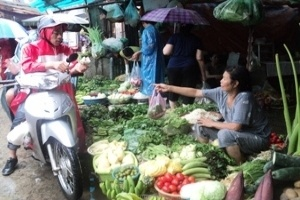 Mưa bão, thực phẩm khan hiếm, đẩy giá cả đắt đỏ